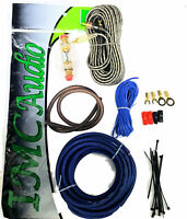 8 Gauge Amplfier Power Kit for Amp Install Wiring Premium RCAs and Wire Blue