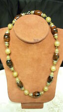 """fashion 18"""" long chocker clasp fit stone beaded necklace"""