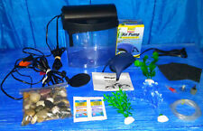 *+*AQUEON-1 GALLON MINI BOW AQUARIUM PLUS TON OF EXTRAS*JUST ADD FISH!!*+*