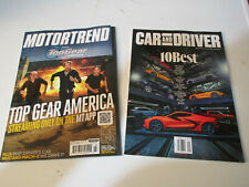 LOT 2 Brand New CAR MAGAZINES CAR AND DRIVER 10 BEST / MOTOR TRENDS Top Gear