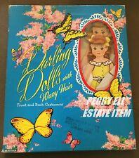 "1957 SAALFIELD ""DARLING DOLLS WITH WAVY HAIR"" DIANE & DOTTIE & UNCUT CLOTHES"
