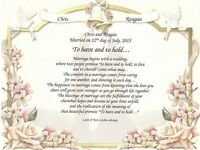 "Personalized Wedding Poem ""To Have & to Hold"" on Wedding Vows Print"