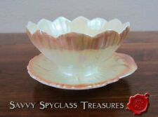 Vintage Royal Winton Lustre Figural Lotus Flower Grapefruit Dish