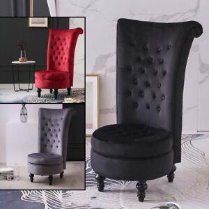 Vanity Chair Makeup Dressing Stools Bedroom Footstool Wooden Velvet Chairs