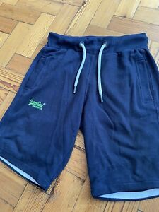Superdry Navy Blue Sweat Shorts Size Small