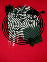 RIP CURL - SKULL AND SPIRAL GRAPHIC - MEDIUM - RED T-SHIRT- Y1859