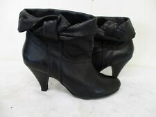 Steve Madden Jess II Black Leather Ankle High Heel Boots Size 8 M