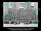 OLD HISTORIC MILITARY PHOTO OF NORTHAMPTONSHIRE REGIMENT, 2nd BATTALION 1934