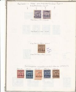 El Salvador Classic Specialized Collection 1900 Overprints Including Scarce #235