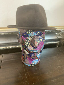 Stetson Royal Stetson Hat Trilby Felt Brown Vintage Vtg 22 in Thomas & Gassman