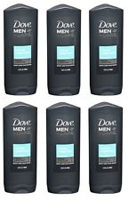Lot of 6 Dove Men + Care Body and Face Wash, Clean Comfort, 13.5 fl oz
