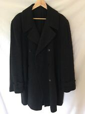 agnes b. homme double breasted grey black wool pea coat jacket 4 US 42 44 L EUC