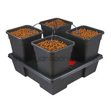 Wilma 4 Pot Complete Dripper System Grow Kit Hydroponics