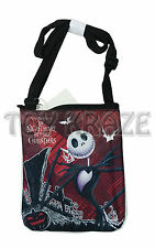 "NIGHTMARE BEFORE CHRISTMAS SLING BAG! BLACK & RED SATCHEL CROSSBODY PURSE 8"" NWT"
