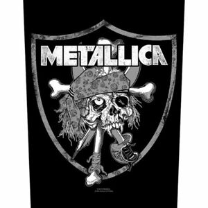 """METALLICA - """"RAIDERS SKULL"""" - LARGE SIZE - SEW ON BACK PATCH"""