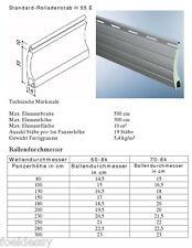 Rolladen Ersatz Lamellen Maxi Maßanfertigung Aluminium grau Breite 195 cm