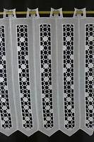 m/€ 29,05 Scheibengardine Gardine Bistrogardine 505 60 cm hoch weiß Macrame