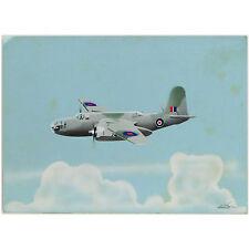 WWII Douglas A-20 Havoc DB-7 RAF Boston Bomber Retro Gouache Aircraft Painting