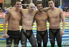 RARE SPEEDO 26 27 28 FASTSKIN LZR RACER Elite Legskins Swimsuit Male skinsuit
