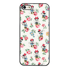 Floral Minnie Mouse plastic phone Case Fits iPhone 5 6 7