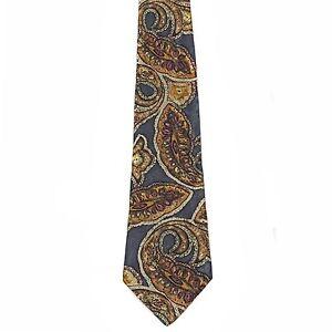 "Pattinni Men's 100% Silk Paisley Neck Tie Gray Classic 4"" x 58"""