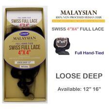 100% HUMAN HAIR- MALAYSIAN SWISS FULL LACE 4