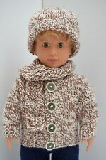 OUR GENERATION AMERICAN GIRL BOY CREAM COAT, SCRAF & HAT SET CLOTHES 18INCH DOLL