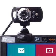 USB 50 Megapixel HD Webcam Web Cam Cámara Micrófono Mic 3 LED PC Laptop Skype