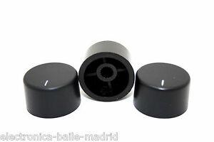 3x ORIGINAL BLACK KNOB PUSH-ON FOR ELECTRO-HARMONIX BIG MUFF
