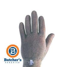BUTCHER'S 5 FINGER MESH GLOVE FULL STAINLESS STEEL *PLUS ONE FREE TENSIONER -NEW