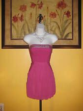 NWT Flirty Fuchsia Guess Strapless Mini Dress Size 5