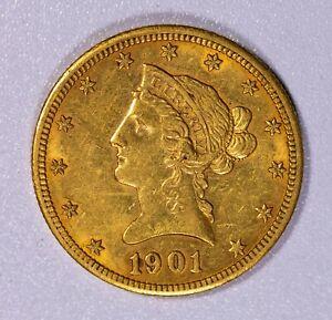 1901 S $10 Liberty Gold Eagle Item#J7282