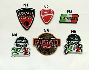 Italian Ducati Motorcycle Racing Bike Patch Iron Sew On Jeans Jacket Leather New