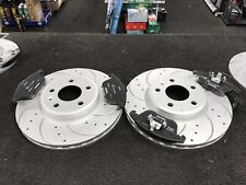 AUDI A4 2.0TD B8 AVANT 170bhp BRAKE DISCS DRILLED GROOVED WITH MINTEX PADS