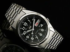 Seiko 5 Automatic Mens Watch 21 Jewels See Through Back SNX809K UK Seller