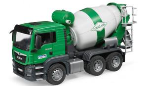 CONCRETE Cement MIXER TRUCK MAN TGS Green Bruder Toy Car Model 1/16 1:16