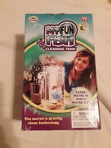 My Fun Fish Tank, 4 3/4 x 6 x 10-Inch Aquarium Self-Cleaning