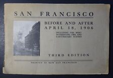 Vintage 1906 San Francisco - Before and After April 18, 1906 Earthquake *RARE*
