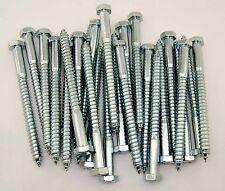 "(50) Hex Head 3/8 x 6"" Lag Bolts Zinc Plate Wood Screws"