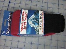 nordic gear fleece sock pair walking hunting camping dark red x-small new
