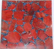 Handmade Semi precious Natural Red Jasper stone coffee table top Home Decorative