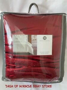 NEW Hotel Collection FULL/QUEEN Comforter Luxe Border RED $420