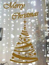 STr6 Polka Dot Christmas Tree Star Sticker Shop Window Wall Art Decoration Decal