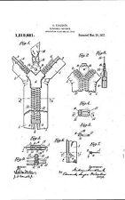 Zipper Design - Copy of Patent dated 1915
