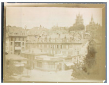 Suisse, Lausanne, Panorama Vintage citrate print Tirage citrate  9x12  Cir