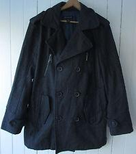 INC International Concepts Mens Peacoat Wool Blend Size L Charcoal Gray EUC