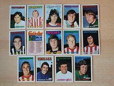 A&BC Football Cards - 1972/73 Orange  Backs x 14