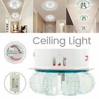 Plafonnier LED lustre cristal luminaire lampe pendentif salon porche CY03 G