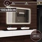Badspiegel mit LED Beleuchtung Digitaluhr Badezimmerspiegel Lichtspiegel