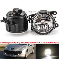 LED Fog Light Driving Lamp For Peugeot 207 307 407 3008 SW CC VAN 2000-2013 Pair